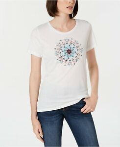 Columbia Women's Butterfly Wing Medallion Tee, White, Large