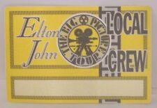 ELTON JOHN - VINTAGE ORIGINAL CONCERT TOUR CLOTH BACKSTAGE PASS