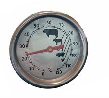 Termometro da cucina analogico da 0° a 120° per carne, barbecue in acciaio 14cm