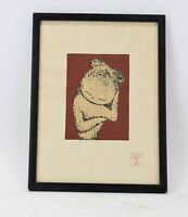 original hand signed Kaoru Kawano 1916-1965 Woodblock Sleeping Child art print