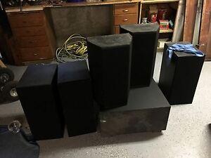 Full Set Fosgate Audionics Home Theater Speakers