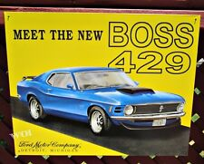 1970 Ford Mustang Boss 429 Engine Sports Car Advertising Tin Picture Poster Sign