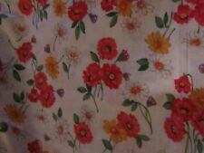 Shabby cottage chic romantic pink white yellow daisy romantic fabric material