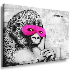 BANKSY LEINWAND BILDER auf KEILRAHMEN XXL WANDBILD! KUNSTDRUCK GRAFFITI Gorillas