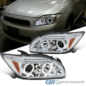 For 05-10 Scion tC Replacement Clear LED Halo Projector Headlights Head Lamps
