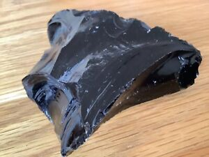 Black Obsidian Large Chunk. Healing, Grounding, Protection. Volcanic Glass 195g