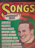 Popular Songs Ralph Flanagan Andrews Sisters  November 1950