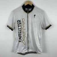 Specialized Cycling Sport Jersey Mens XL Full Zip White Short Sleeve