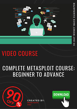 Complete Metasploit Course: Beginner to Advance video course training tutorial
