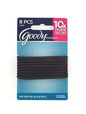 GOODY OUCHLESS  PONYTAIL HAIR ELASTICS - 8 PCS. - BLACK  (32823)