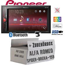 Pioneer Radio für Alfa Romeo 159 Spider Brera Bluetooth 2DIN MP3 USB Einbauset
