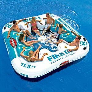Sportsstuff Fiesta Private Island 8-Person Water Lounge Floating Lake Raft