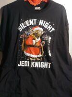 Licensed Star Wars Yoda Silent Night Jedi Knight Christmas T-Shirt 2XL NWT