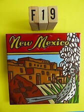 "Ceramic Art Tile 6""x6"" New Mexico Dwellings yucca road runner trivet wall F19"