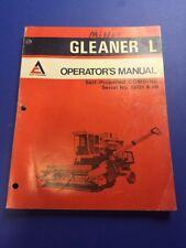Allis Chalmers Gleaner L Combine Operators Manual