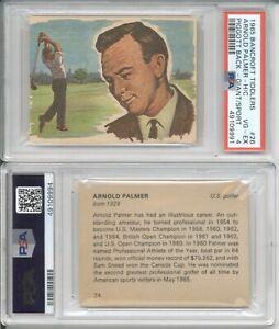 1965 Bancroft Tiddlers ARNOLD PALMER Rookie #26 #24 PSA 4 Front & 6 Back RC
