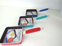 New Cuisinepro professional non stick mini square frying pan 12cm, silicone hand