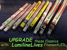 "LUMILINE RETRO-vintage  FilamentLED~17.75""~Clear~60W Equal ~(9W)~Light Bulb lamp"