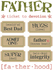 Just The Ticket Father Card Making Sticker Scrapbook Best Dad Father's Day
