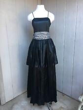 VTG 80's Jessica McClintock Gunne Sax Black & Stripe Prom Ball Costume Goth