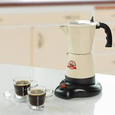 Vintage Espresso Kaffee Kocher Maschine kabellos 6 Tassen Retro Moka Maker beige
