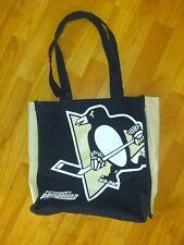 "MVF Pittsburgh Penguins Tote Bag 14""X12""X4"" NHL Hockey 100% Cotton"