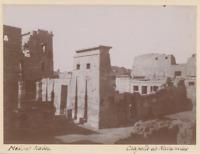 Egypte, Medinet Habu (مدينة هابو), Chapelle de Nectanebos  Vintage print.  Ti