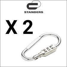 STANDERS 2X Mousquetons type pompier à code 10x105 mm cadenas sécurité