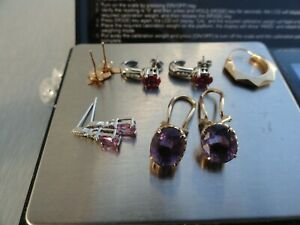 8.7 GRAMS OF 14 K SCRAP GOLD  -- SOME NICE JEWELRY WITH STONES !!!!