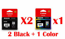 3pcs Genuine Canon PG 640 x2 + CL 641 x1 -> MG 4260 MG3560 MX476 MX526 MX536