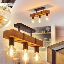 Decken Lampen Retro Wohn Schlaf Zimmer Beleuchtung Flur Leuchten rostfarben/Holz