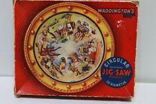 "Waddington's Circular ALICE IN WONDERLAND Jig-saw Puzzle 20"" Diameter - 232"