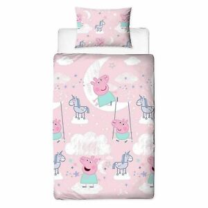 Peppa Pig Single Bedding Set Duvet Cover Set Stardust Kids 2-in-1 Design
