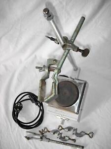 Gerhardt SV3 Laborheizer, Heizplatte, 450 Watt  mit Halter, Klemmen und Klammern