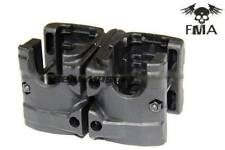 HOL MP7 Double Magazine Polymer Clip (Clamp) for MP7 Airsoft SMG AEG GBB - Black