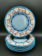 Set of 5 Whittard of Chelsea Hand Painted Tea/Side Plates Summer Design