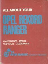 OPEL REKORD C RANGER SALOON FASTBACK ESTATE 1966 - 1972 OWNERS WORKSHOP MANUAL