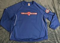Majestic MLB 2012 World Series Authentic Thermabase Sweater Blue Men's 2XL EUC