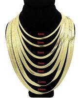 "Men Herringbone Chain 14K Gold Finish 4mm to 14mm 8"" 18"" 20"" 24"" 30"" Necklace"