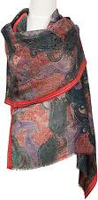 Pashmina bufanda lana seda wool silk scarf tejidos estampados paisley woven printed