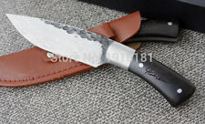Knife- Forged Fixed Blade (Damascus Steel Pattern) 58HRC Combat Knife