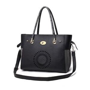 New Black Snake PU Leather Pet Dog Cat Carrier Shoulder Bag Messenger Handbag M