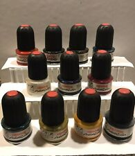 Rotring Ink Bottle 30ml Vintage Lot Of 11 Rotring Germany Assorted Colors
