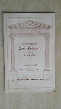 1933 LYCEUM THEATRE PROGRAMME - ALBERT BURDON in GOOD COMPANY