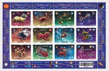 Stamp sheet of LATVIA 2015 -  Zodiacs - Constellations (Souvenir sheet) MNH
