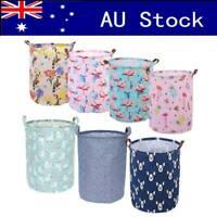 Clothes Laundry Bag Foldable LG Washing Storage Basket Linen Toys Hamper Cotton
