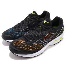 Mizuno Wave Rider 22 Black Multi-Color Men Running Shoes Sneakers J1GC1837-09