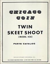 Chicago Coin 1974 arcade  = TWIN SKEET SHOOT =  parts catalog & schematics