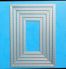 Inside Double Stitched Rectangle, Craft Die Cards, Scrapbooking. UK Seller