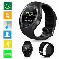2019 Waterproof Y1 Smart Watch SIM Camera Wristwatch for IOS Android sport DW